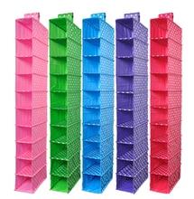 Organizadores Vacuum Bag Box 빨 수있는 색깔 조직자 수집 걸이 부속품 선반, 10 선반 옷장 또는 단화 조직자