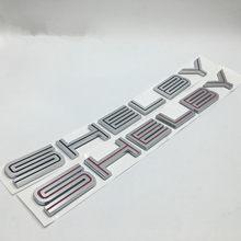 1x 3d abs shelby logotipo tronco traseiro emblema frente emblema adesivo estilo do carro para super cobra mustang gt350 gt500