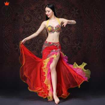 Belly Dancing Clothes New style Performance Women Dancewear Oriental Dance Outfits Bra Skirt BellyDance Costume 2pcs