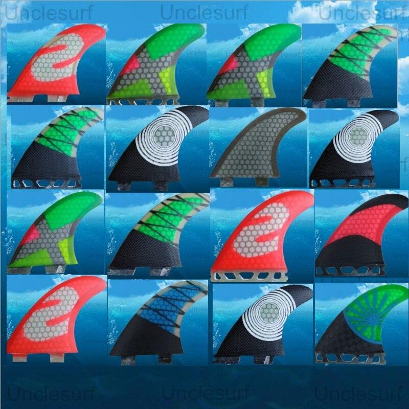 FCS AVENIR FCS ii G5 ailettes de surf pour planche de surf sup conseil en fiber de verre en nid d'abeille quillas ailettes tri ensemble surf ailerons de planche de surf queue pad