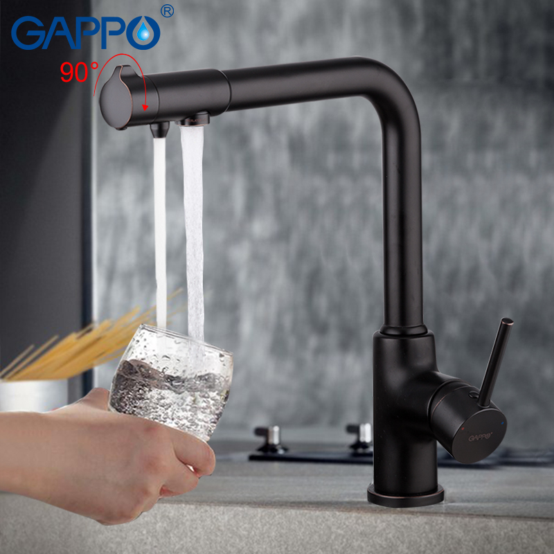 GAPPO Kitchen faucet water purifire black faucet for kitchen water tap sink mixer brass kitchen faucet mixer tap sets           GAPPO Kitchen faucet water purifire black faucet for kitchen water tap sink mixer brass kitchen faucet mixer tap sets