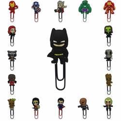 1 stücke Super Hero Batman Avenger Guardians Of The Galaxy pvc cartoon Lesezeichen metall Papier clips schreibwaren Clip förderung geschenke