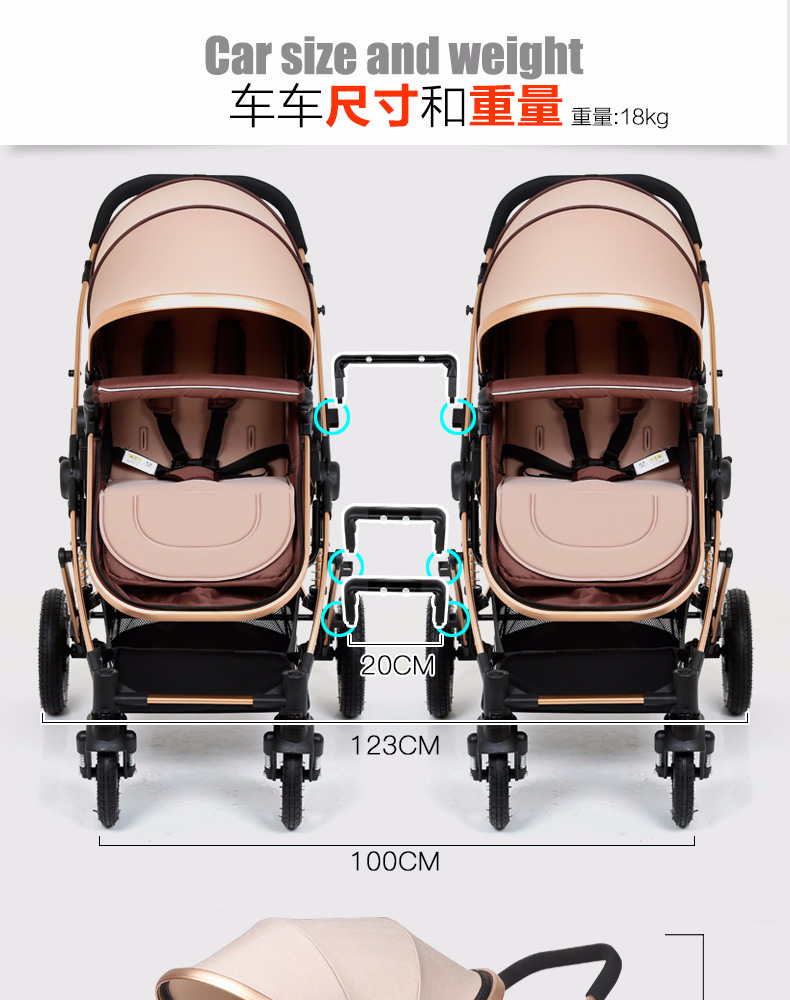 Baby Buggy Mercedes 2019 Twins Baby Stroller Folding Lightweight Baby Twin Stroller 3c Cars Wholesale Detachable Shockproof 2018 European Style New From Vingner 844 86
