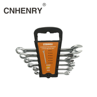 6PCS One Set 8 19 mm Combination Wrenches Set Automotive Tools Hand Wrench Tool Set