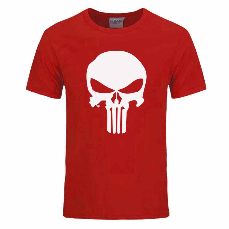 Punisher t shirt per gli uomini t shirt di Cotone di modo di marca t shirt uomo casual Maniche Corte the punisher t-shirt Da Uomo