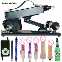 FREDORCH New Sex Machine Hand Free Pumping Gun with 4 Dildos Automatic Sex Machines for Man and Women Bedroom Sex Products