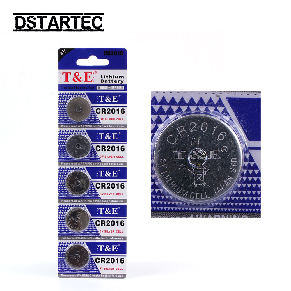 5pcs 30mAh CR2016 Cell Coin Button Batteries  LM2016 BR2016 DL2016 KCR2016 CR 2016 3V Lithium Battery For Watch Toys LED Light