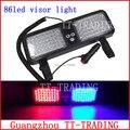 Atacado Super Bright LED 86 Car Truck Visor Strobe Luzes de emergência do veículo luzes da polícia luz DC12V branco vermelho azul âmbar