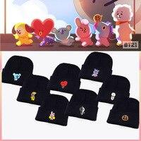 Kpop Home Bangtan Boys BTS Bt21 Same Fans Club Beanie Hat Hiphop Cap Women S Hat