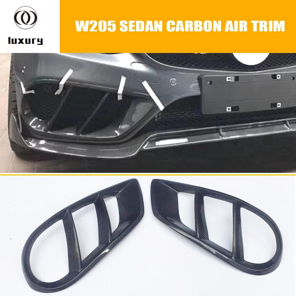 W205 углеродного волокна воздухораспределительная решетка на передний бампер решетка облицовки радиатора для Benz W205 C180 C200 C300 C43 с AMG посылка се