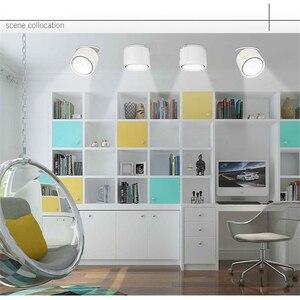 Image 4 - 85 265Vac eingang 3W zu 12W LED embedded unten lampe, faltbare und drehbare COB hintergrund dimmbare decke Korridor spot licht
