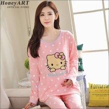 Maternity's  pajamas Female autumn  cotton long sleeve  pants suit  Autumn thin pajama pants Female  winter leisure wear DD377z