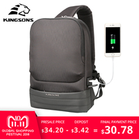 KINGSONS Men Chest Bag Sling Bag Casual Canvas Chest Anti Theft Crossbody Bags High Quality Shoulder Bags Chest Packs