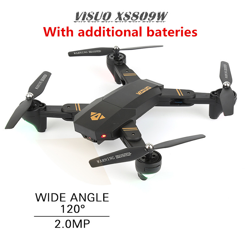 VISUO XS809HW XS809W Mini Drone with Camera WiFi FPV Dron Altitude Hold RC Helicopter Foldable Quadcopter RC Drones With 2 BET rc drone foldable aircraft helicopter fpv wifi rc quadcopter 2 4ghz remote control dron with hd camera vs visuo xs809w xs809hw