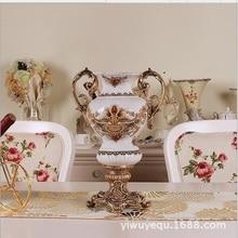 European ceramic crack retro vase large vase wedding gift high – grade Decoration