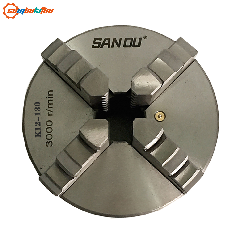 Four jaw lathe chuck 130mm K12 130 SANOU brangd manual type self centering chuck