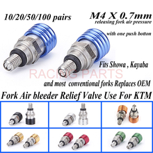 Free shipping Hot Sale Motorcycle Motorbike M4X0.7 Fork Air Pressure Bleeder Valves