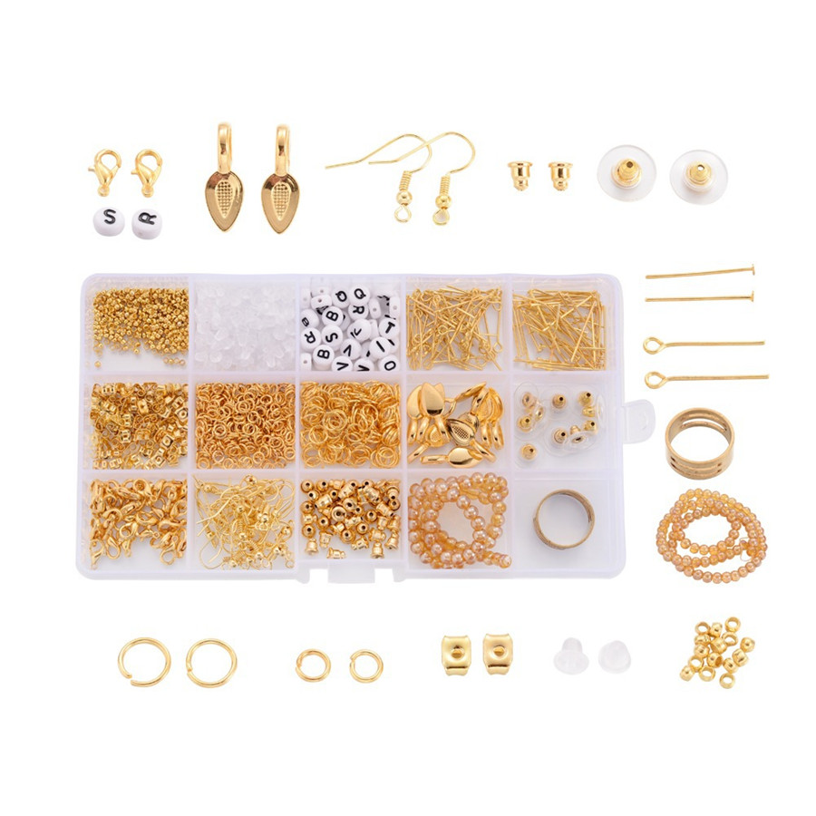 Jewelry Making Kit Cabochon Lobster Clasp Open Jump Ring Crystal Thread Wire For Earring Bracelet Necklace Hand Made Diy Jewelry jewelry making