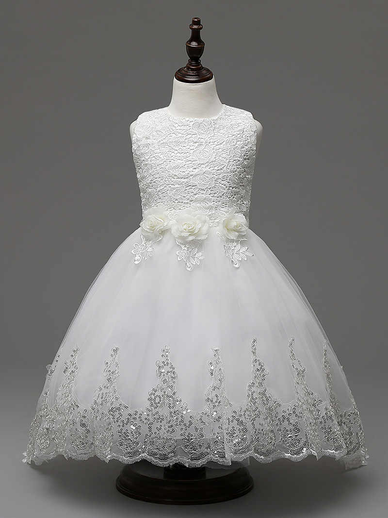 019aa52101a7 Children Bridal Dresses Clothes White Red Hot Pink Pink Blue Tulle Princess  Wedding Dress Short Front