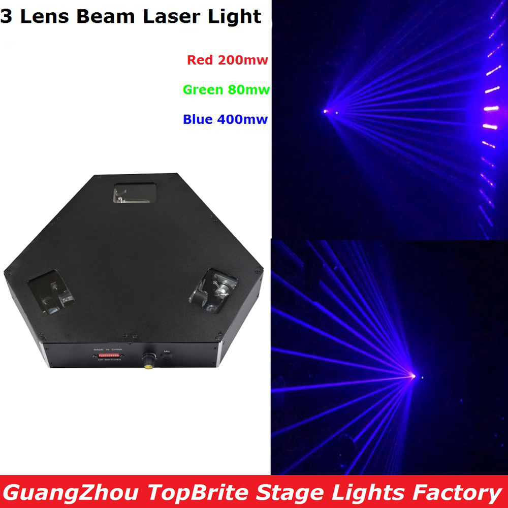 New Arrival 3 Lens 680mW RGB DMX Laser Projector Disco DJ Stage Shows Lighting Professional 3 Heads Beam Laser Lights Fast Ship rg mini 3 lens 24 patterns led laser projector stage lighting effect 3w blue for dj disco party club laser