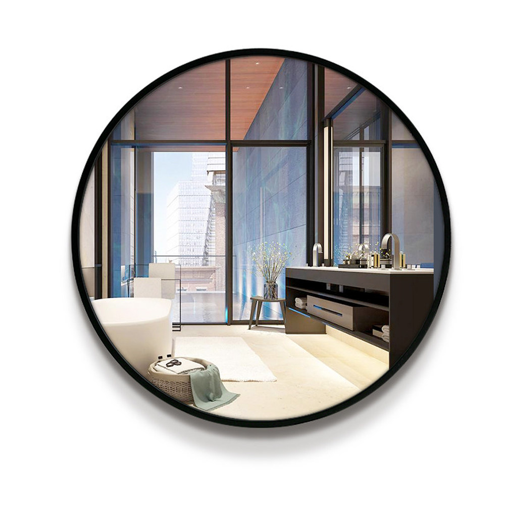 US $162.0 |A1 Bathroom mirror toilet wall mirror Chinese style circular  wall mounted bedroom living room toilet make up mirror wx8221848-in Bath ...