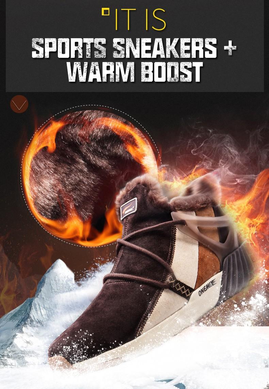 ONEMIX Winter Boots Men & Women Warm Wool Sneakers Outdoors Neutral Sports Sneakers Comfort Running Shoes Sale Size 36-45 8