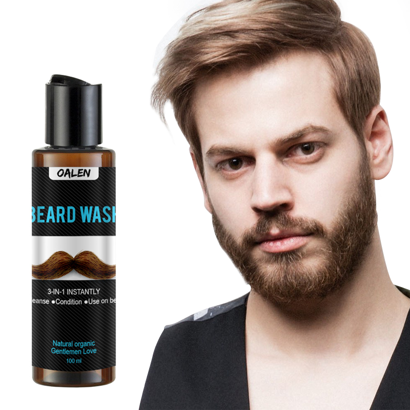 Beard Wash Men's Beard Shampoo Deep Cleansing Nourishing Beard Cleanser Repair Conditioner Keep Beard Shaping Growth Liquid 1