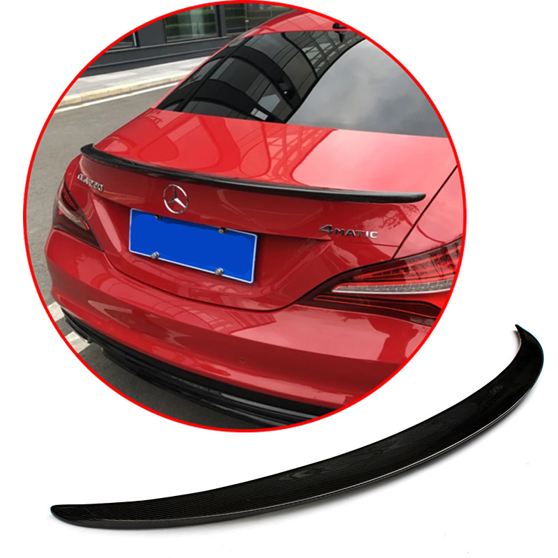 For Mercedes-Benz CLA W117 high quality ABS Carbon Fiber Decorative pattern <font><b>Spoiler</b></font> <font><b>CLA200</b></font> CLA220 CLA260 2014-2018 rear wing image