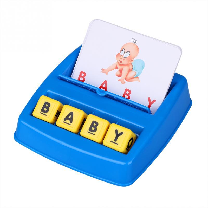 Буквы Алфавита рисунок Правописание игры карты английское слово Обучения Головоломки слово картина матч Развивающие игрушки для детей