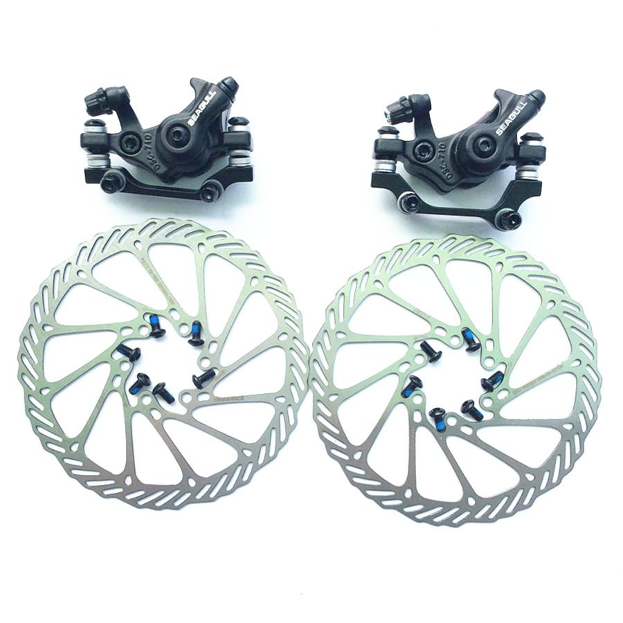 Prix pour Livraison gratuite 1 paire haute qualité VTT freins à Disque et la AVID G3 160 MM 2 PCS accessoires vélo Vélo De Frein pour BB5 BB7
