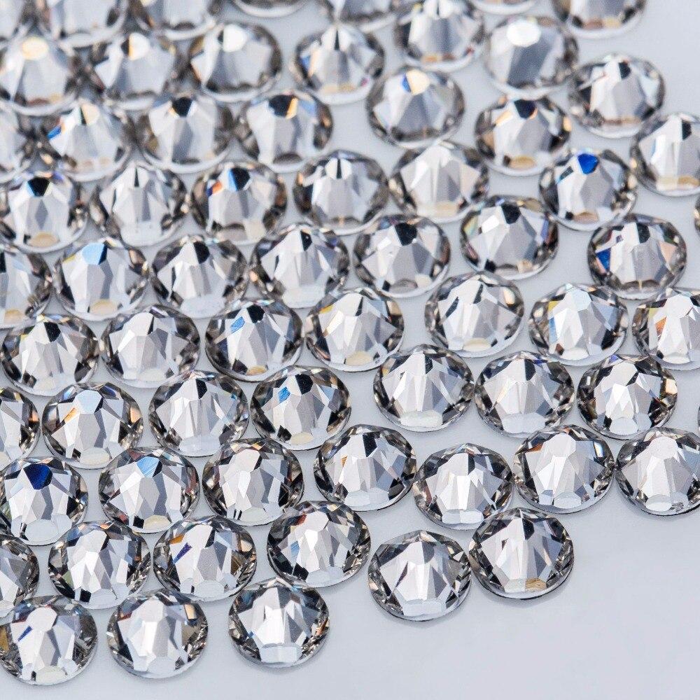 Château de cristal Strass Pour Vêtements 5A SS20 Clair Cristal Correctif Flatback Strass Hot Fix Nail Art En Verre Pierres Rhinetones Diy