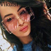 a10015f4ee 2018 marca de lujo del ojo de gato mujeres Gafas de sol perla decoración  piernas moda cuadrado Sol Gafas Ladies gradient clear S..