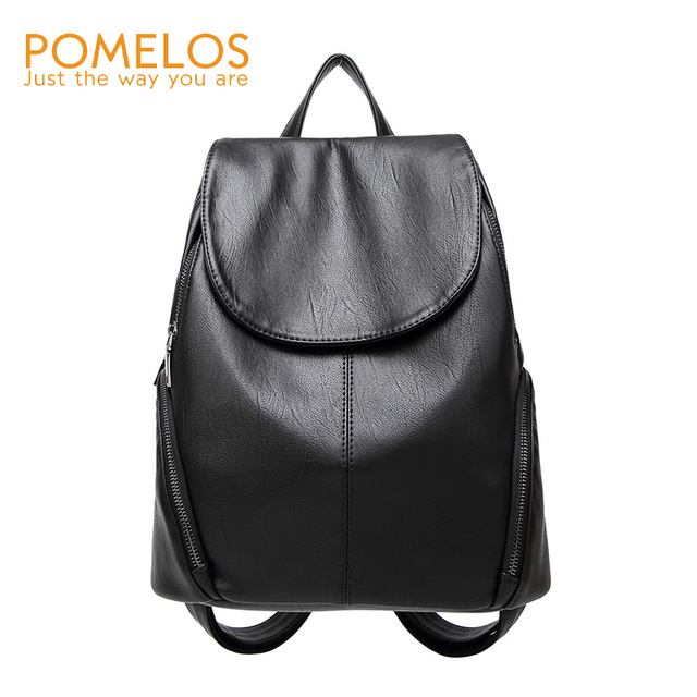 Pomelos Women Preppy Style Backpack Fashion Female S Solid Softback Back Pack Purse Rucksack Woman Travel