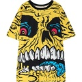 womens HARAJUKU t-shirt 2016 summer new street skull print short sleeve tee top woman ladies oversized tshirt punk rock T Shirt