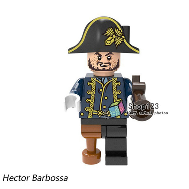 9841e8e8218a5 1PC Pirate of the Caribbean Hector Barbossa Henry Ghost Zombie Captain  Bricks Action Building Blocks Children