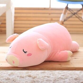 1 шт. супер милый спальный свинья плюшевые игрушки мягкие игрушки животных куклы для детей Детские Kawaii для девочек игрушки прекрасный детск...
