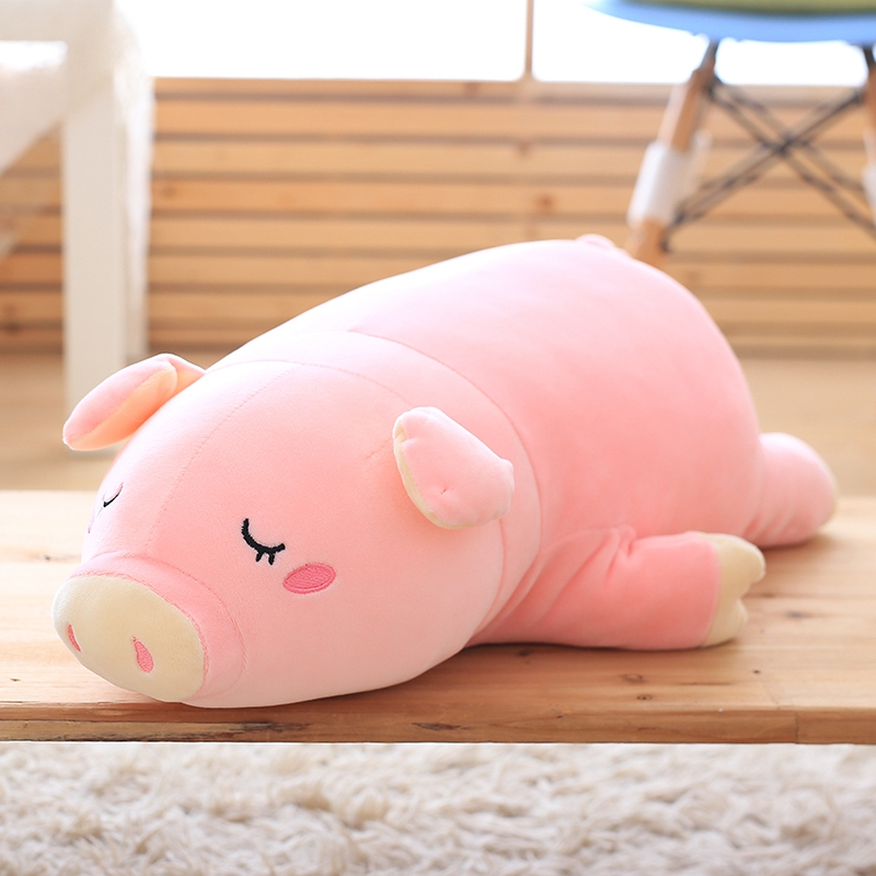 1PC Super Cute Sleeping Pig Plush Toy Stuffed Soft Animal Toy Doll for Kids Baby Kawaii Girls Toy Lovely Children's Gift Doll 2016 new super mario plush 17cm one piece anime soft yoshi plush cute lovely doll kids gift