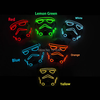 Hot Selling 10 Color Choice Sparkling EL Wire Mask With Function Of Sound Active Flashing Newest