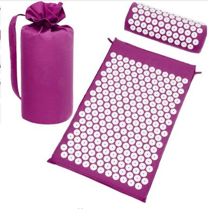 Acupuncture pillow massage yoga mat 3 - piece set of acupucture cushion мат для йоги nike fundamental yoga mat 3 mm n ye 02 571 os