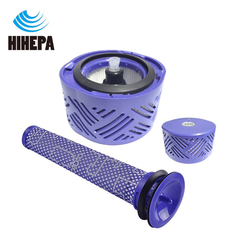 2 pcs/set Pre & Post-Motor HEPA Filter Kit for Dyson V6 DC59 Vacuum Cleaner Parts fit part DY-96674101 DY-96566101