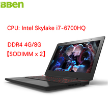 "BBen X6 15.6"" Laptops Gaming Computer Intel Skylake i7-6700HQ Quad Core Windows 10 DDR4 16G SSD 128G HDD 500G Backlit Keyboard"