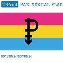Free shipping Pan Sexual Flag 3x5ft Polyester Banner Flying 150* 90cm 60*90cm 30*45cm 15*21cm Pansexual Banner Outdoor free shipping gulf cooperation council flag 90x150cm 60 90cm polyester 3x5ft banner