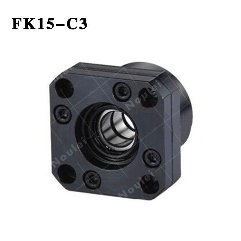 CNC partie vis à billes fin Support FK15 C3 Set blocs avec écrou de blocage flottant et fixe côté pour SFU 2005 vis à billes