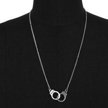 HOT 2019 Handcuff Pendant Necklace For Women Men Steampunk Fashion Jewelry Lover Collares FREEDOM Statement Necklace Chain Gift(China)