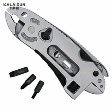 KALAIDUN Multifunctional Pliers Knife font b Screwdriver b font Set Kit Adjustable Wrench Repair combination pliers