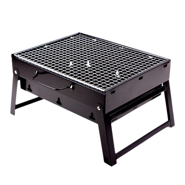 Portable Size Outdoor Camping Beach Bbq Barbecue Grill Rack Household Use Lightweight Folding Picnic