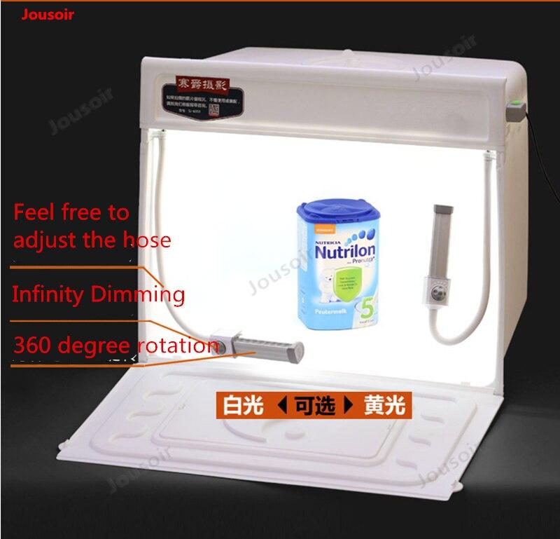 60 cm studio boîte à lumière LED souple avec tuyau de remplissage avant lumière réglable photo hangar table de tir CD50 T03