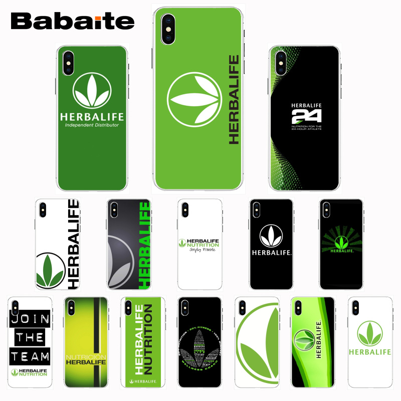 Babaite Black Herbalife Colorful Cute Phone Accessories Case for iPhone Xr XsMax 8 7 6 6S Plus Xs X 5 5S SE 5C Cases