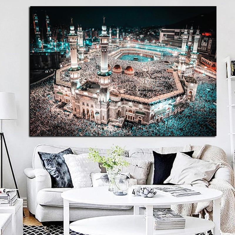 Moderne Pelegrinazhi Islam në Peizazhin e Natës së Xhamisë së - Dekor në shtëpi - Foto 4