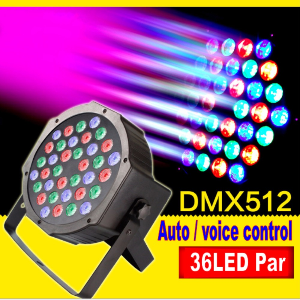 Tinhofire 36W 36 LED Stage Light High Power RGB Par Light DMX512 Master Slave LED DJ Equipment Controller Discos KTV Music Light dmx512 digital display 24ch dmx address controller dc5v 24v each ch max 3a 8 groups rgb controller